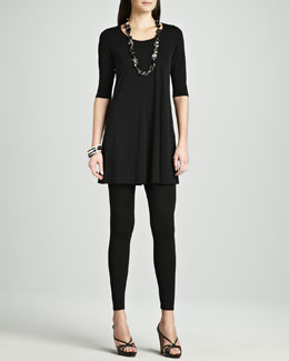 Eileen Fisher Viscose Jersey Tunic & Jersey Leggings