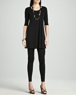 Eileen Fisher Viscose Jersey Tunic & Jersey Leggings, Petite