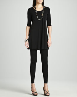 Eileen Fisher Viscose Jersey Tunic & Jersey Ankle Leggings, Women's