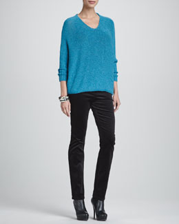 Eileen Fisher Airy Alpaca Crimp Sweater Top, Slim Tank & Corduroy Jeans