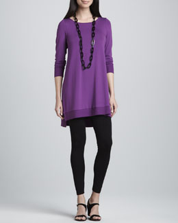 Eileen Fisher Jersey Layering Tunic & Viscose Jersey Leggings, Petite