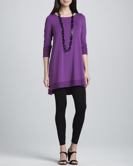 Eileen Fisher Jersey Layering Tunic & Viscose Jersey Leggings, Women's