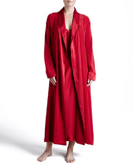 Donna Karan Glamour Silk Long Robe & Gown