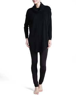Donna Karan Cashmere-Blend Poncho & Soft Jersey Leggings