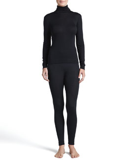 Hanro Silk-Cashmere Turtleneck and Long Leggings