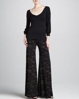Rachel Pally Kaling Double V-Neck Top & Wide-Leg Trousers