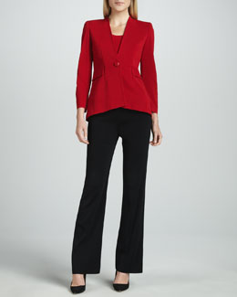 Misook Josephine Peplum Jacket, Amy Tank & Boot-Cut Pants
