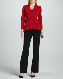 Misook Josephine Peplum Jacket, Amy Tank & Boot-Cut Pants, Women's