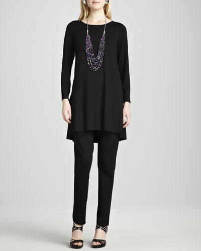 Eileen Fisher Lightweight Jersey Tunic & Straight-Leg Ponte Pants