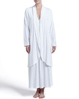 Donna Karan Pima Cotton Robe & V-Neck Gown