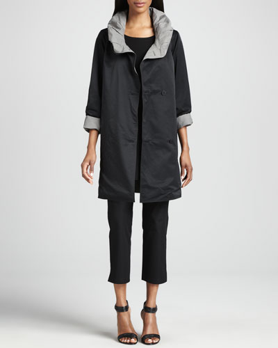 Eileen Fisher Reversible Hooded Rain Coat, Long-Sleeve Tunic & Slim Ankle Pants, Women's