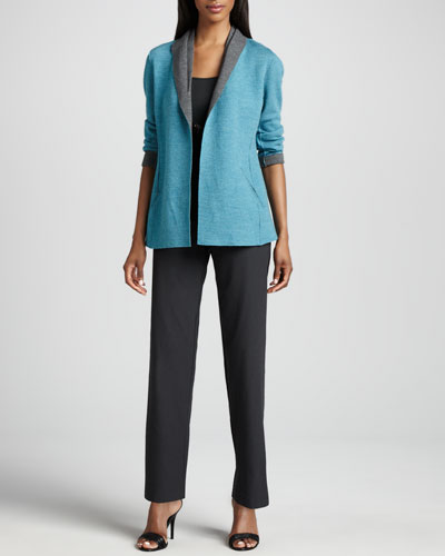 Eileen Fisher Felted Merino Jacket, Slim Tank & Straight-Leg Pants, Petite