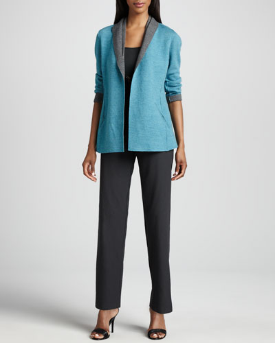 Eileen Fisher Felted Merino Jacket, Slim Tank & Straight-Leg Pants, Women's