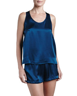 La Perla Dolce Sleeveless Silk Tank & Dolce Silk Shorts