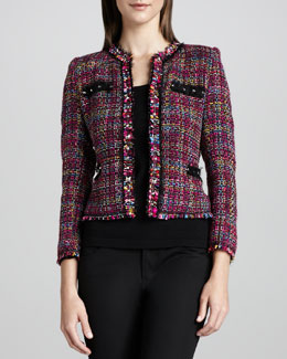 Michael Simon Multicolor Tweed Jacket & Knit Tank