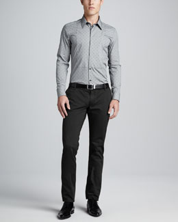 Dolce & Gabbana Pindot Dress Shirt & Twill Pants