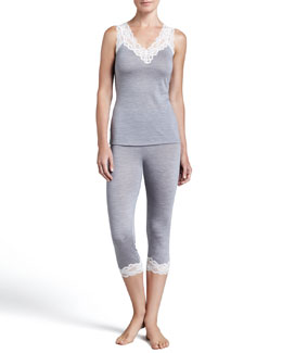 Hanro Patricia Lace-Trim Tank and Patricia Lace-Cuff Capri Pants