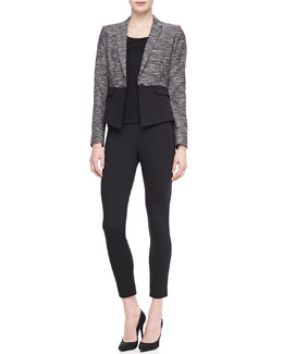 T Tahari Lyla One-Button Jacket & Ramana Cropped Jersey Pants