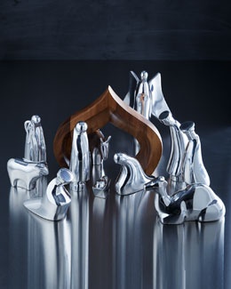 Nambe Silver-Tone Nativity