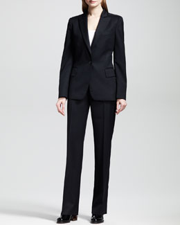 Stella McCartney Classic One-Button Jacket and Flat-Front Skinny Pants
