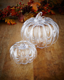 Simon Pearce Glass Pumpkins