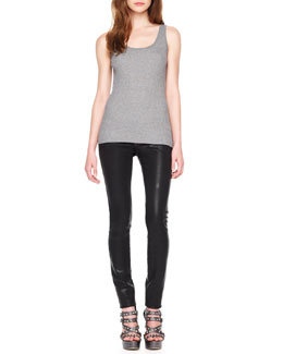 MICHAEL Michael Kors  Ribbed Sweater Tank & Waxed Skinny Jeans