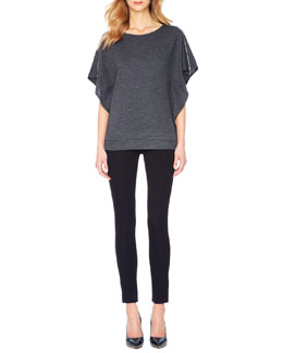 MICHAEL Michael Kors  Zip-Shoulder Blouson Top & Zipper-Cuff Skinny Jeans