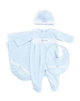 Kissy Kissy Choo Choo Hat, Playsuit, Bib & Blanket