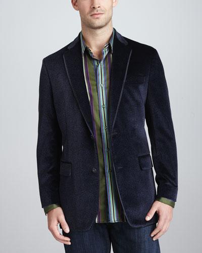 Robert Graham Cobb Patterned-Velvet Sport Coat & Santino Long-Sleeve Shirt