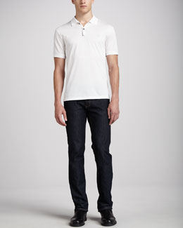 Lanvin Short-Sleeve Sneaker Polo & Slim-Fit Jeans