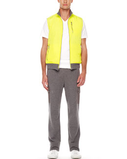 Michael Kors  Reversible Vest, Liquid Jersey V-Neck Tee & Cargo Sweatpants