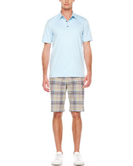 Michael Kors  Short-Sleeve Polo & Plaid Chino Shorts