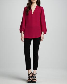 Diane von Furstenberg Tanyana Long-Sleeve Blouse & Carissa Cropped Pants