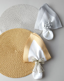 Deborah Rhodes Gold & Silver Holiday Placemats & Napkins