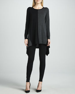 Lafayette 148 New York Long-Sleeve Colorblock Tunic & Stretch Viscose Jersey Leggings