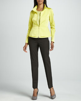 Lafayette 148 New York Reva Jacket, Fine-Gauge Tank & Italian Stretch Bleecker Pants