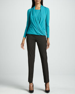 Lafayette 148 New York Moda Top & Italian Stretch Bleecker Pants