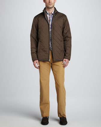 Chesapeake Quilted Jacket, Cermic Plaid Peach-Washed Shirt & Hannover ...