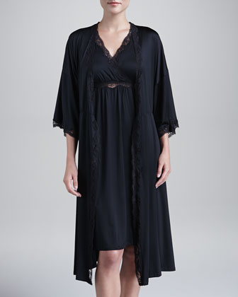 Scarlett Lace-Trim Jersey Robe & Gown
