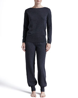 Hanro Lavinia Wool-Cashmere Top & Pants