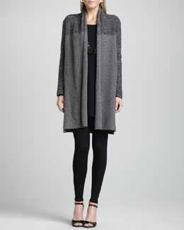 Eileen Fisher Shawl-Collar Long Cardigan, Long-Sleeve Tunic & Ankle Leggings, Petite