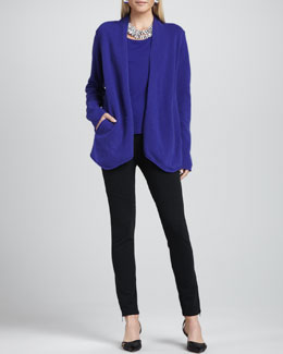 Eileen Fisher Merino-Wool Open Jacket, Cap-Sleeve Tee & Ponte Skinny Ankle Pants