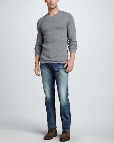 Vince Thermal Crewneck Sweater & Jefferson Selvedge Jeans