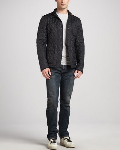 Burberry Brit Quilted Sport Jacket, Short-Sleeve Jersey Tee & Hard Rinse Jeans