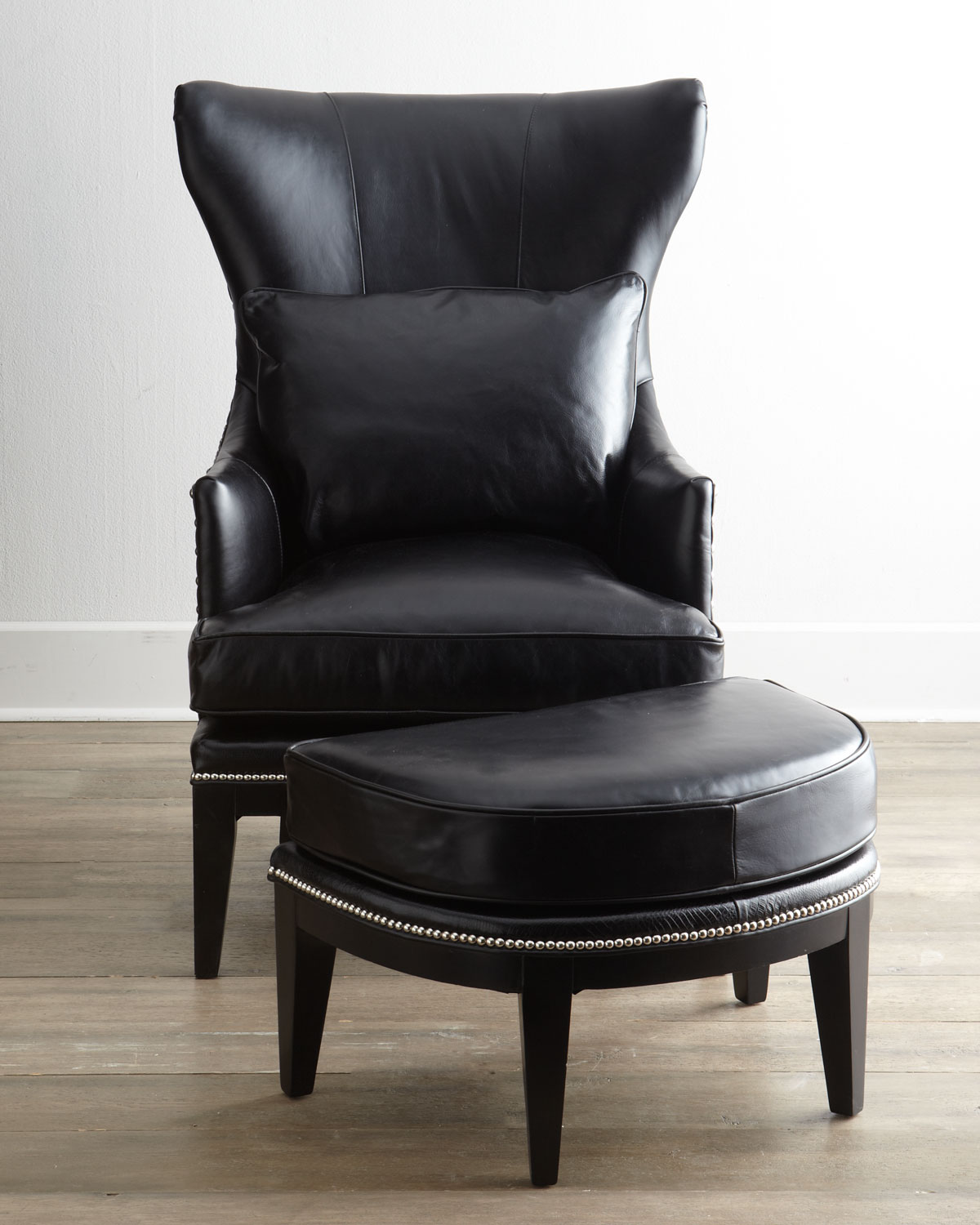 leather chair with ottoman used