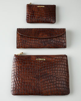 Graphic Image Brown Croc-Shell Travel Accessories