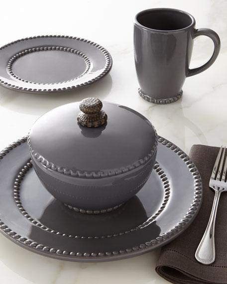 GG Collection Gray Livingstone Dinner Plates, Set of