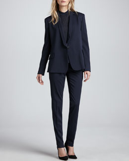 Theyskens' Theory Janton Crepe Suit Jacket, Kalberta Knit Top & Paction Slim Suit Pants