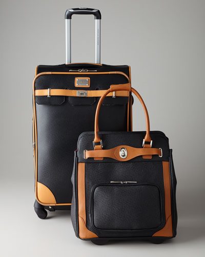 Adrienne Vittadini Black Luggage