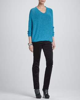 Eileen Fisher Airy Alpaca Crimp Sweater Top, Slim Tank & Corduroy Jeans, Women's